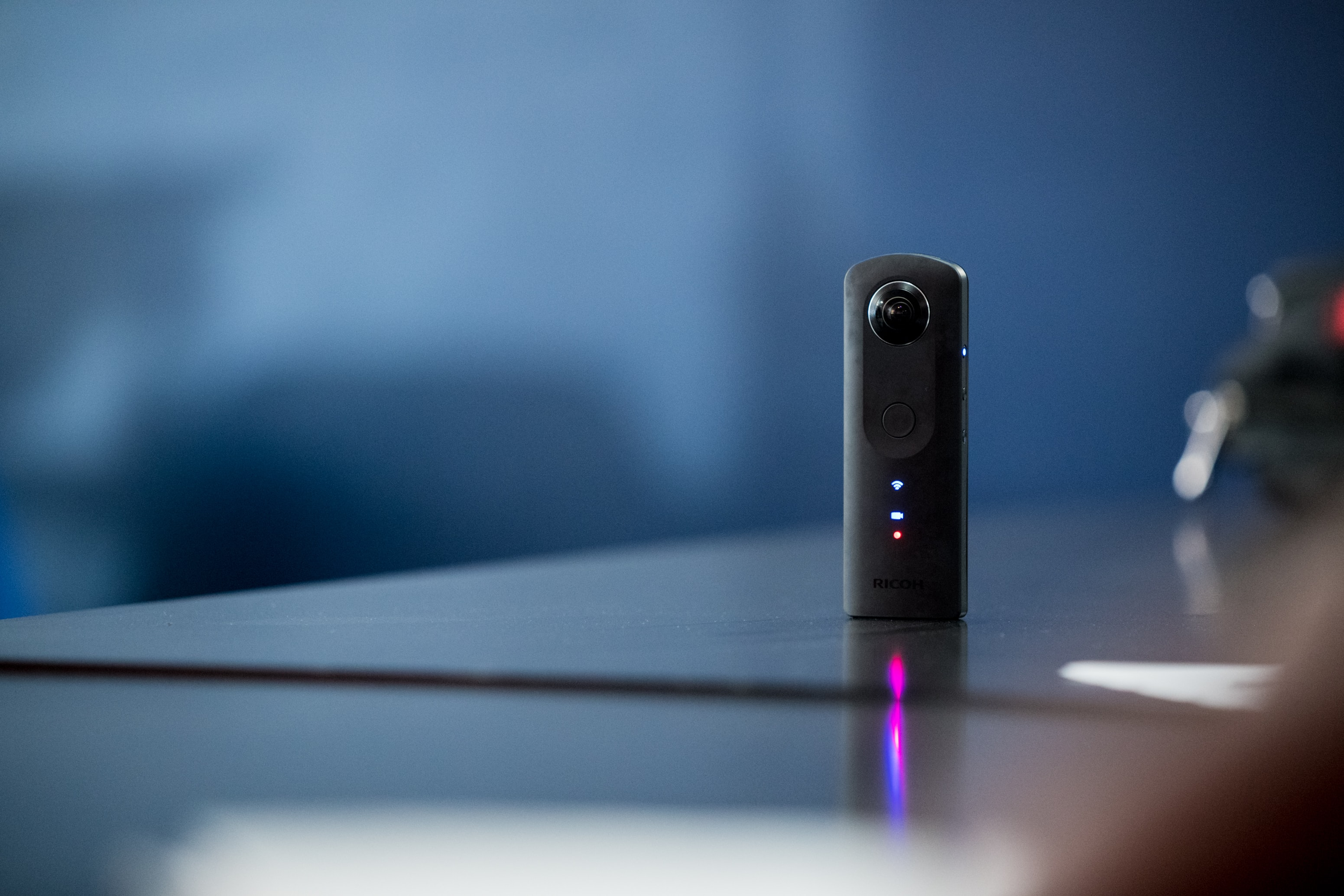 black IP camera on black surface selective focus photography