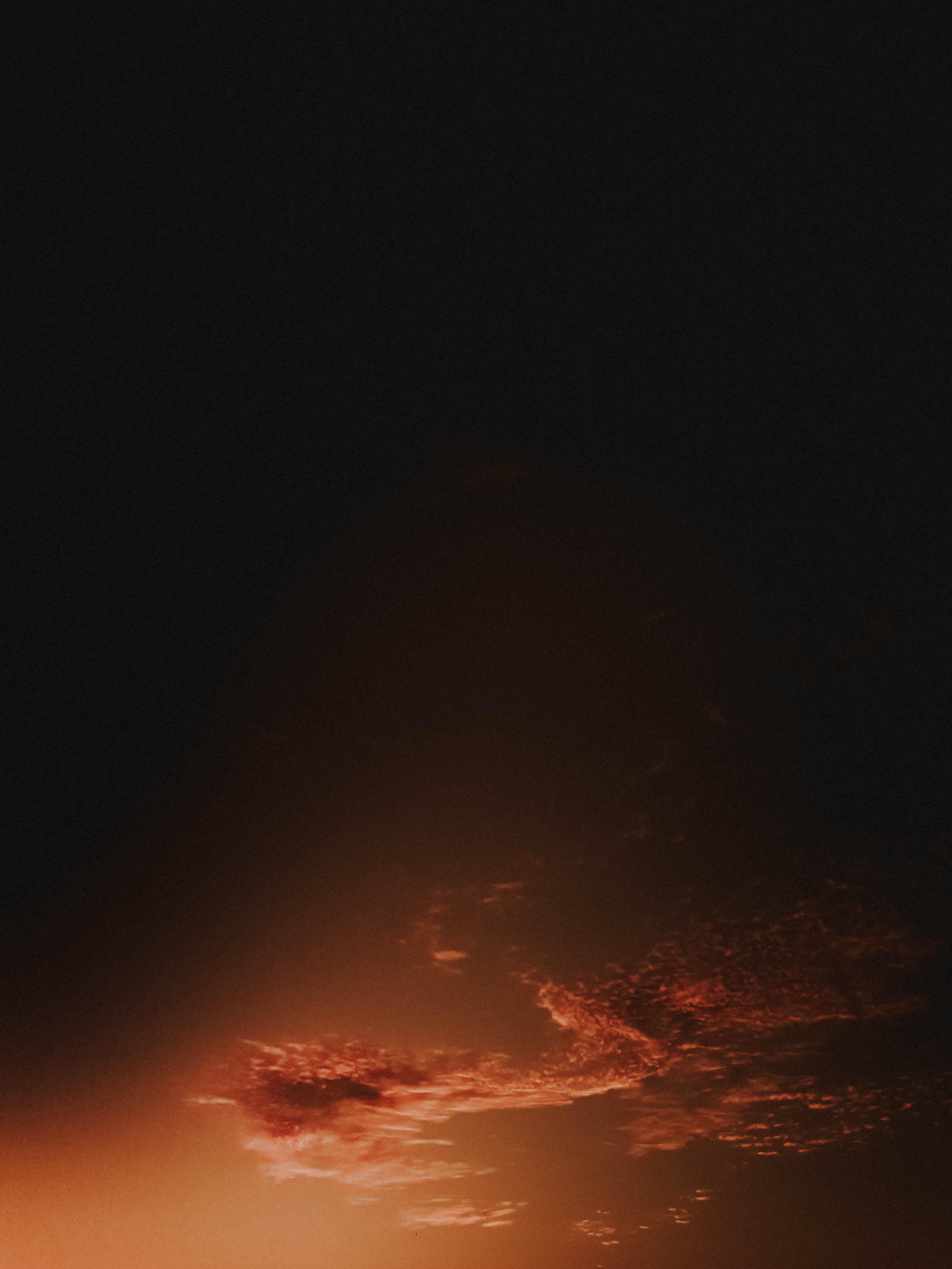 orange sky illustration