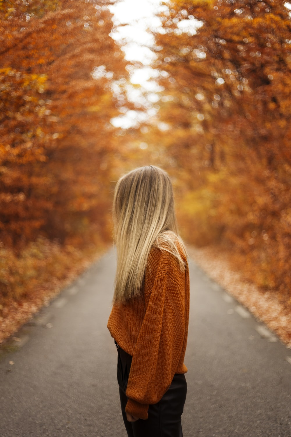 woman on pathway