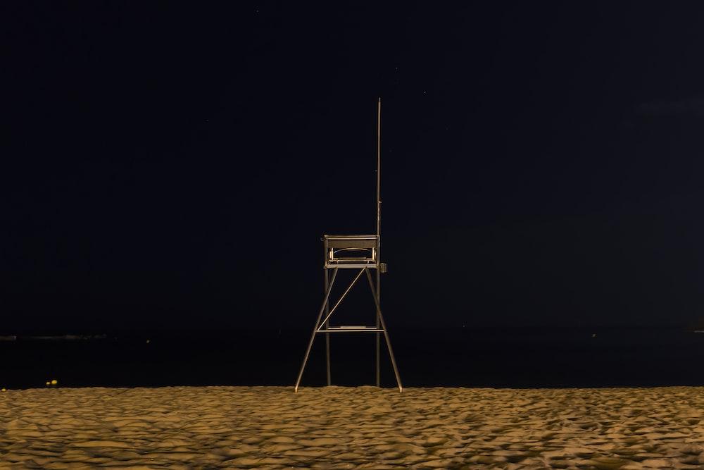lifeguard post in seashore