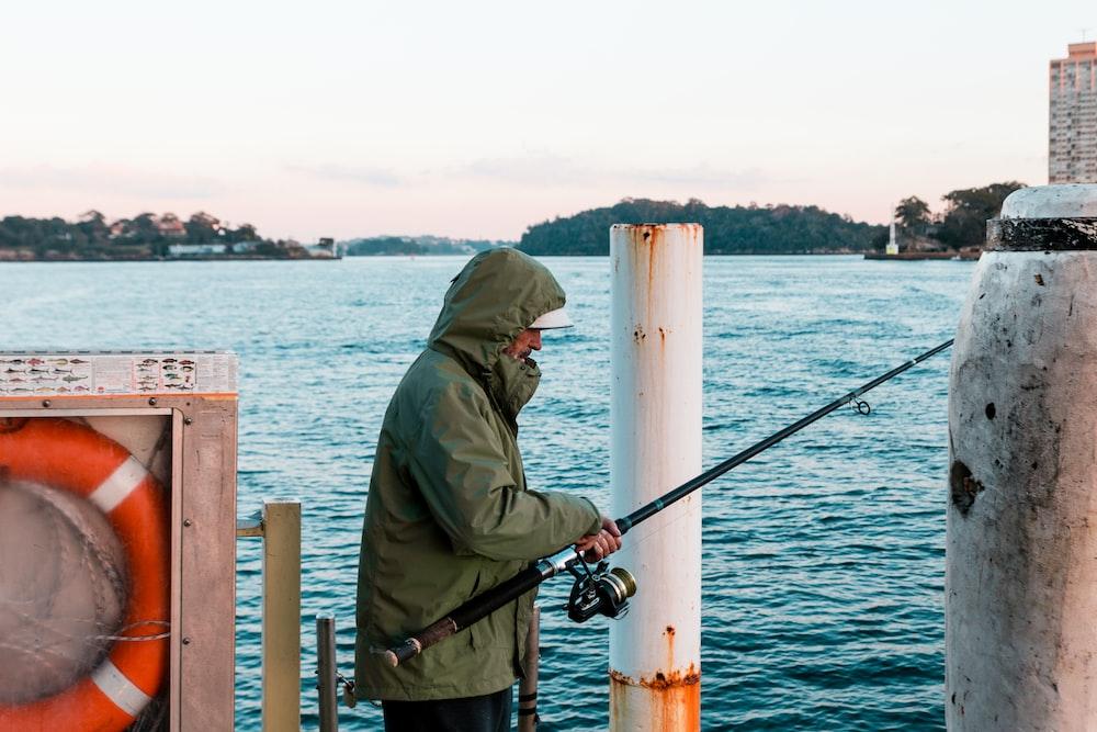 man holding fishing rod