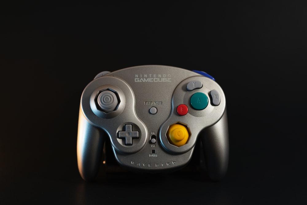 gray Nintendo Game Cube controller