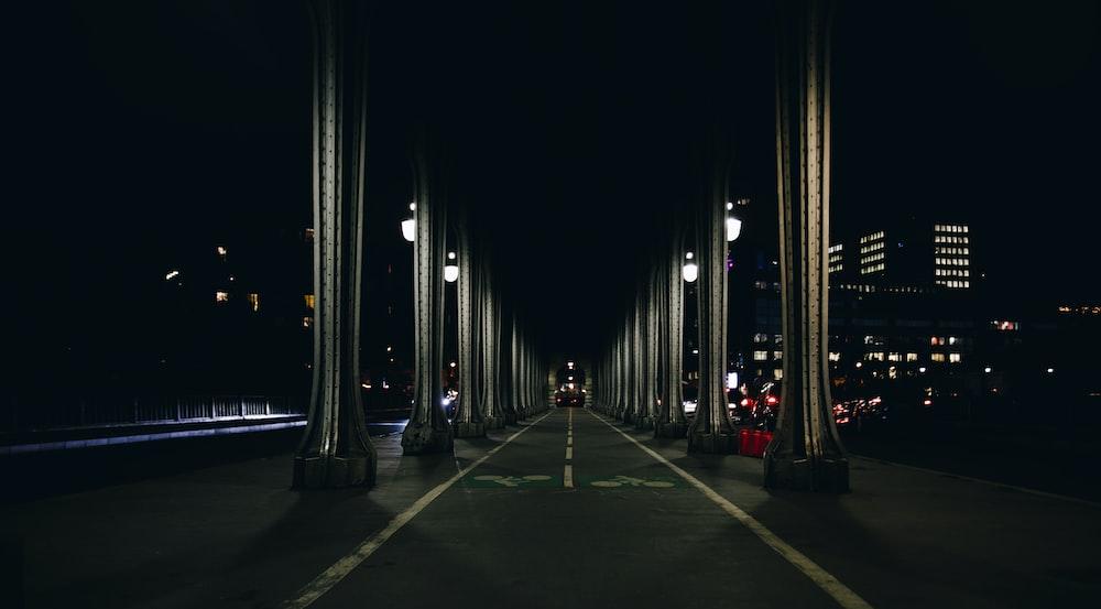 road near buildings