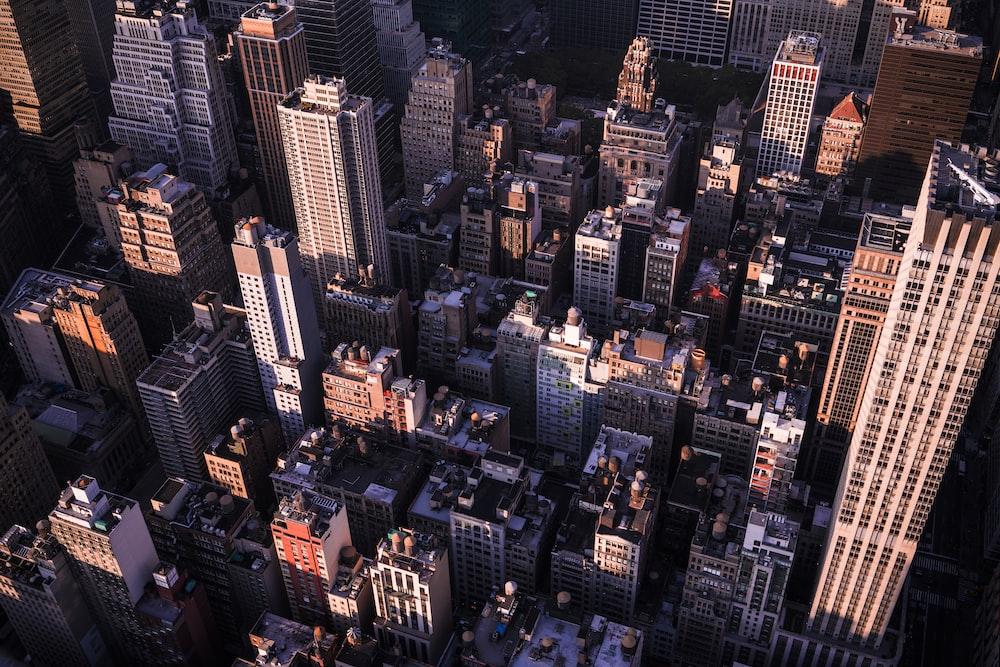 aerial view of buildings