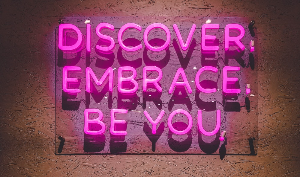 discover embrace be you wall decor