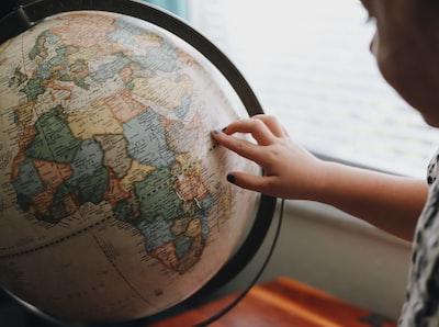 beige and blue desk globe globe zoom background