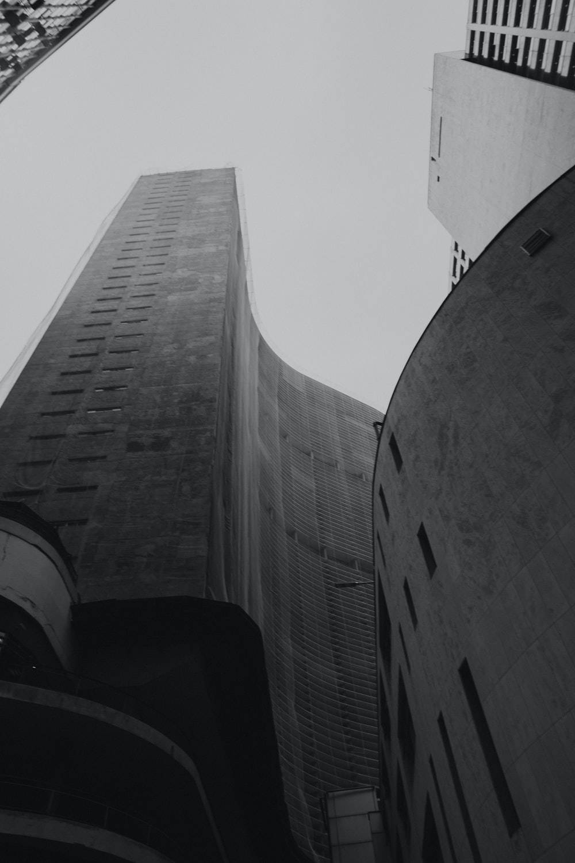 black painted building