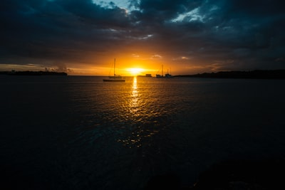 landscape photo of sunset vanuatu zoom background