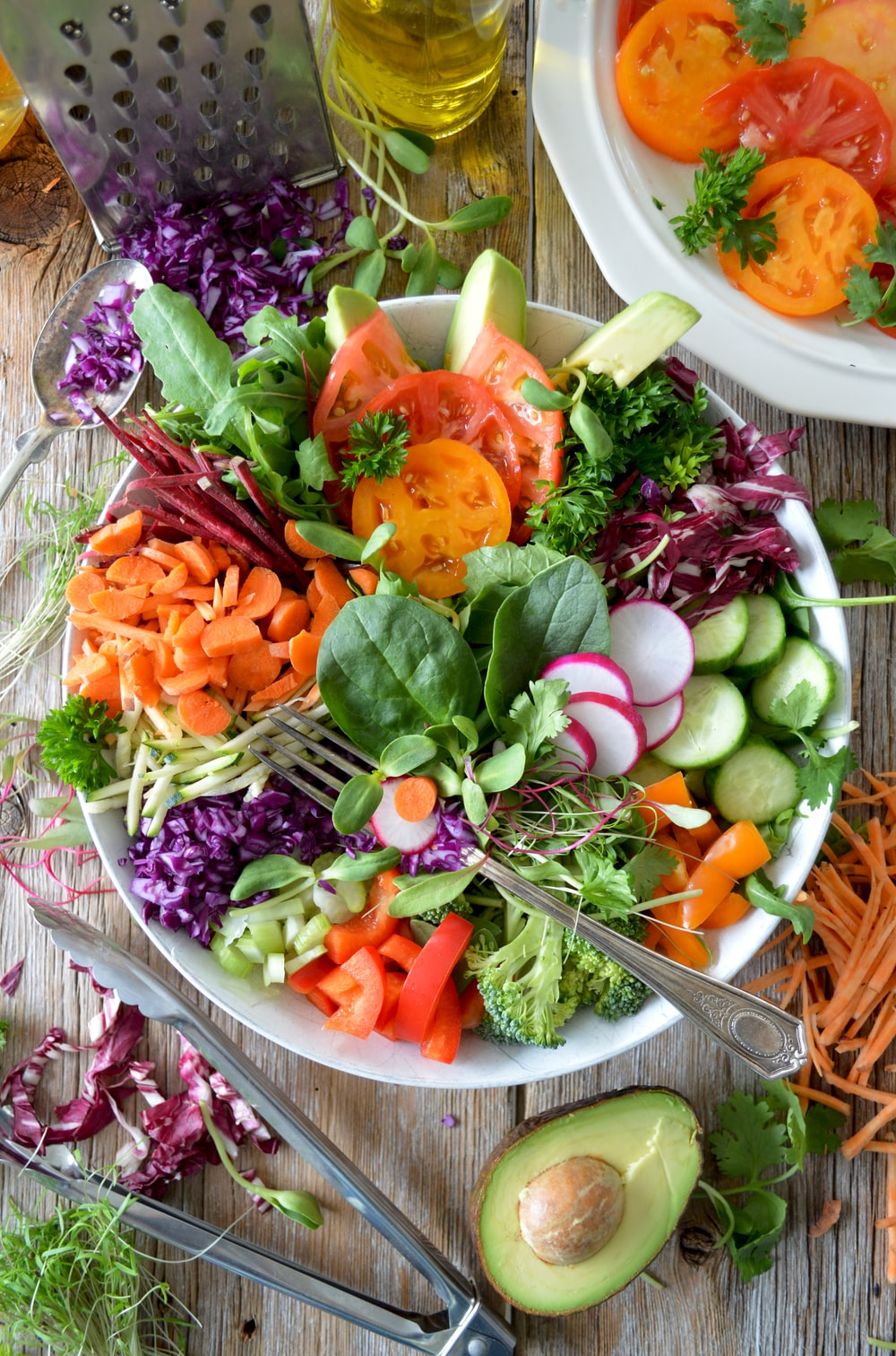 close-up photo of vegetable salad