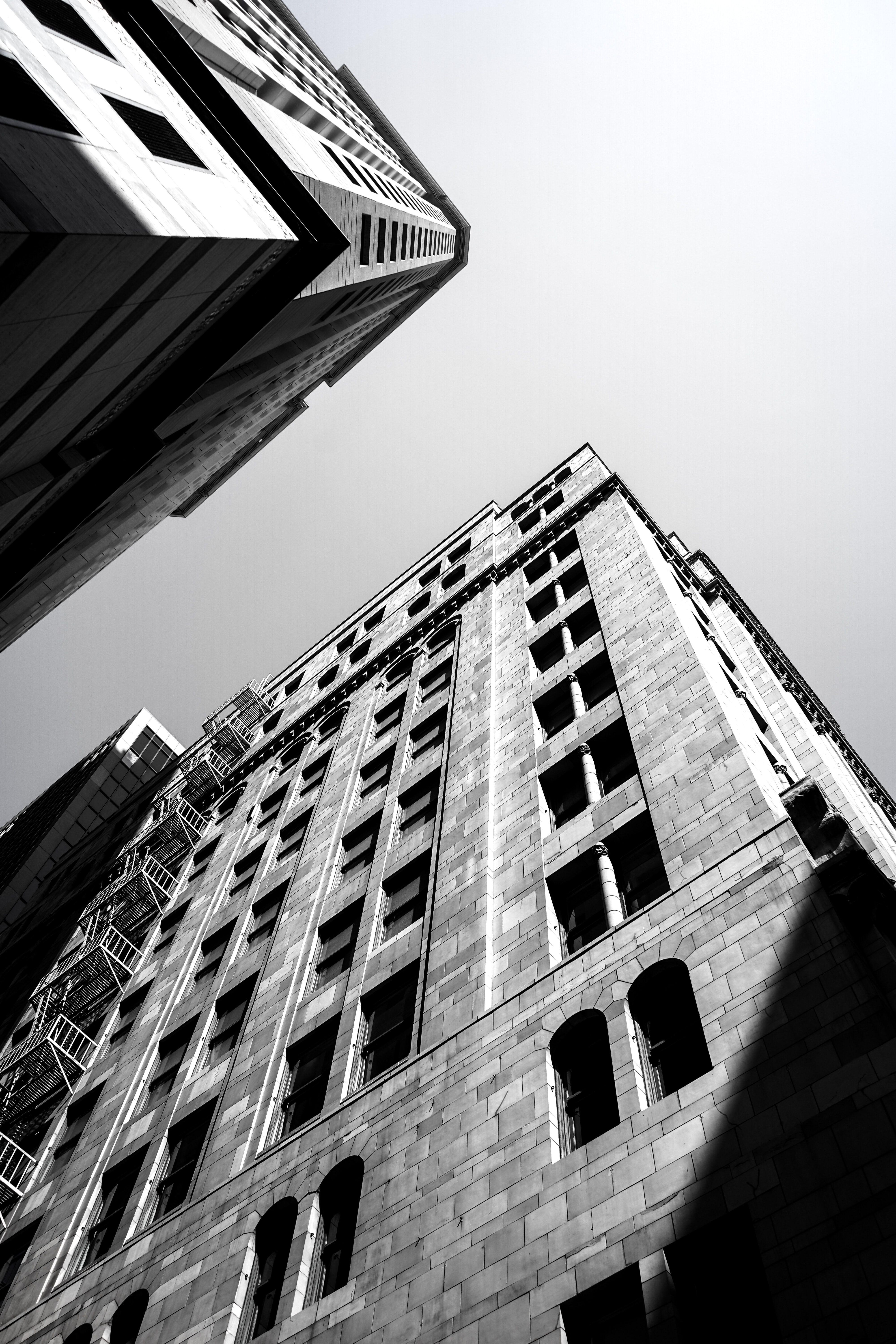 worm eye view of building