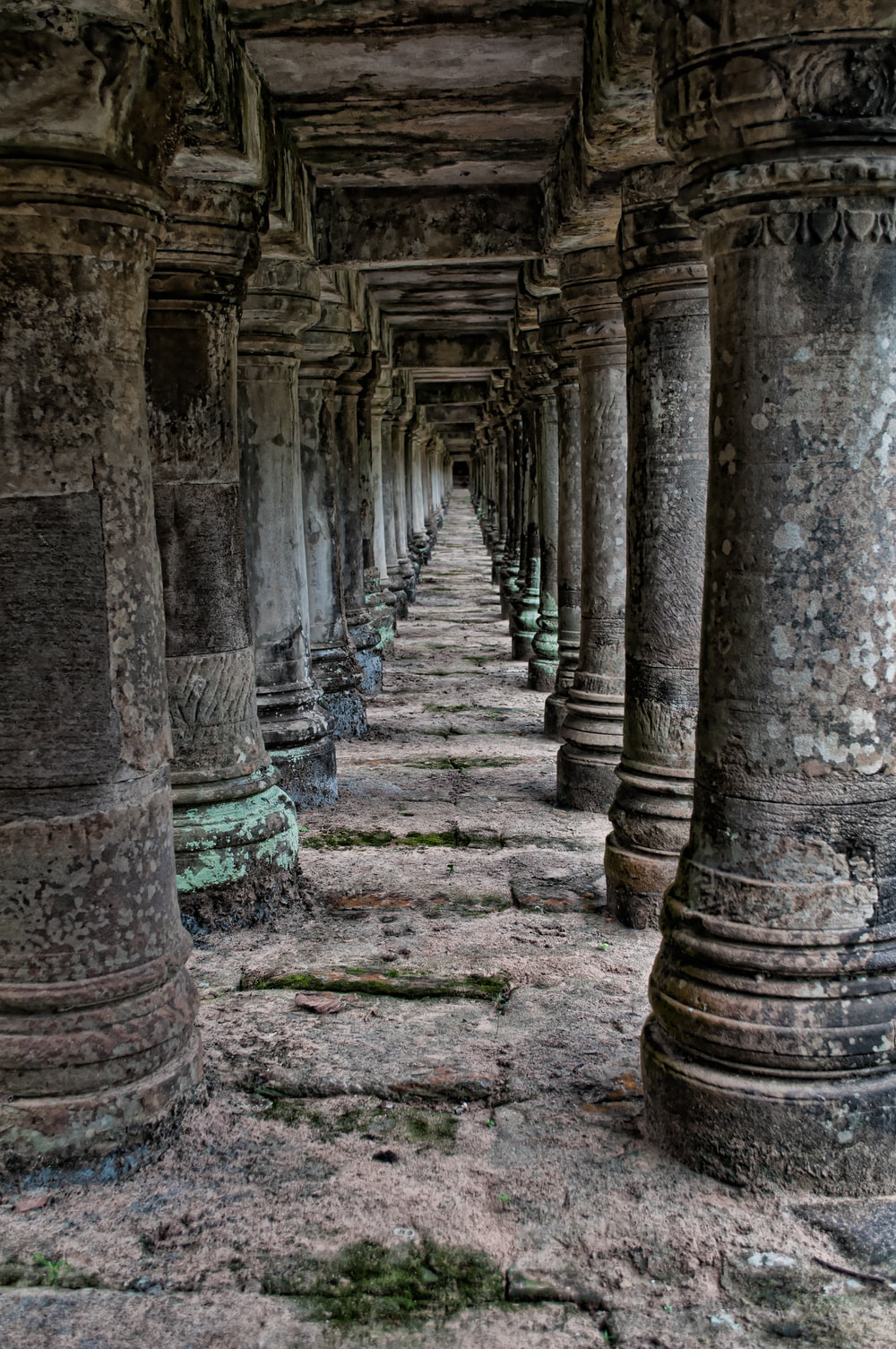 brown pillar