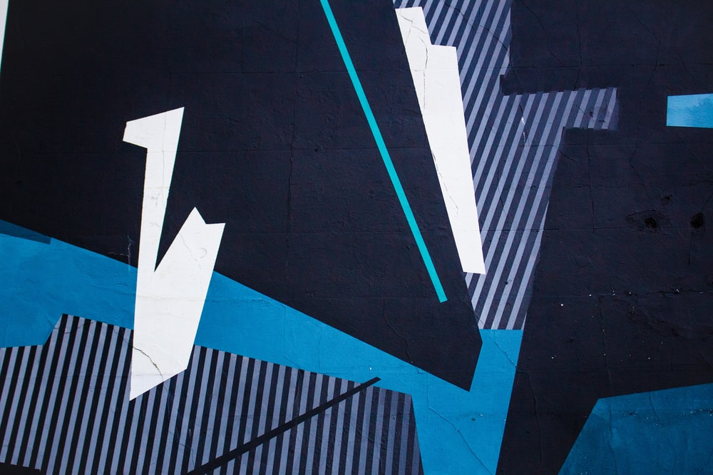 blue and black abstract wallpaper