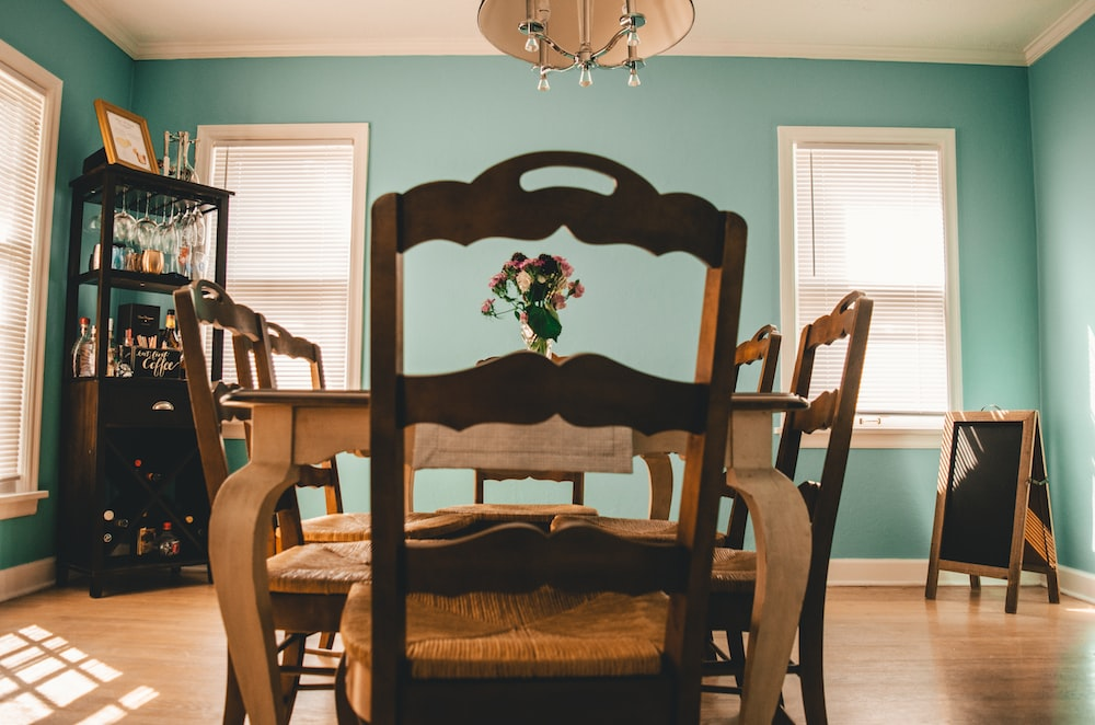 brown dining table set