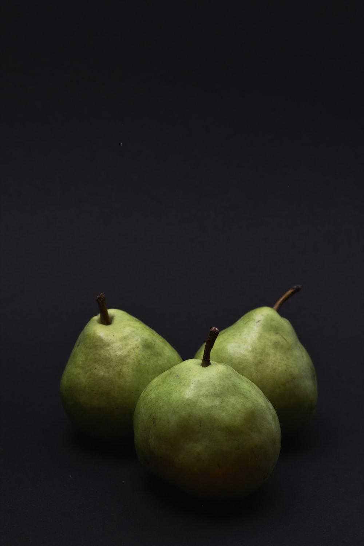 three green fruits