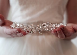 silver-colored tiara
