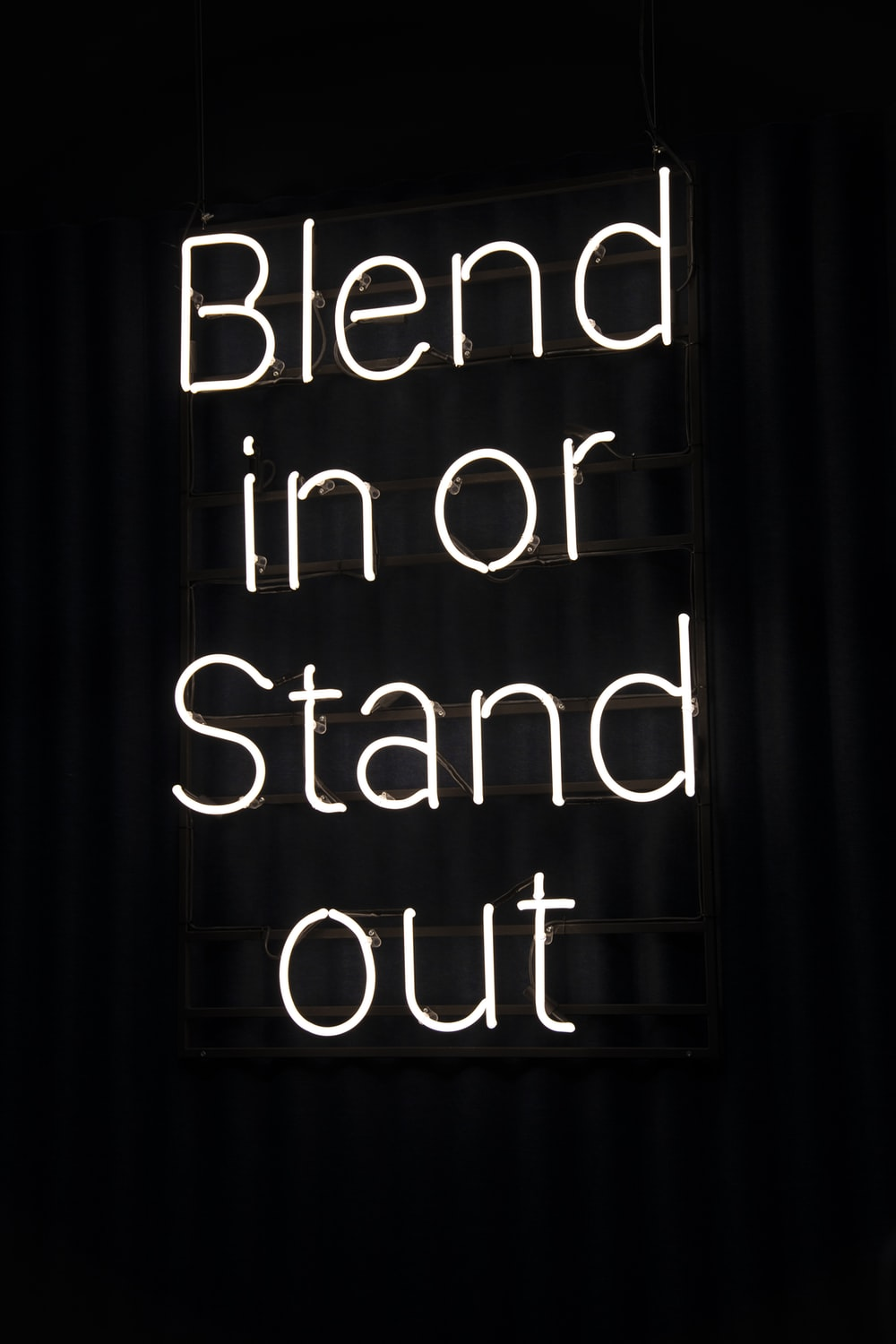 blend in or stand out neon signage
