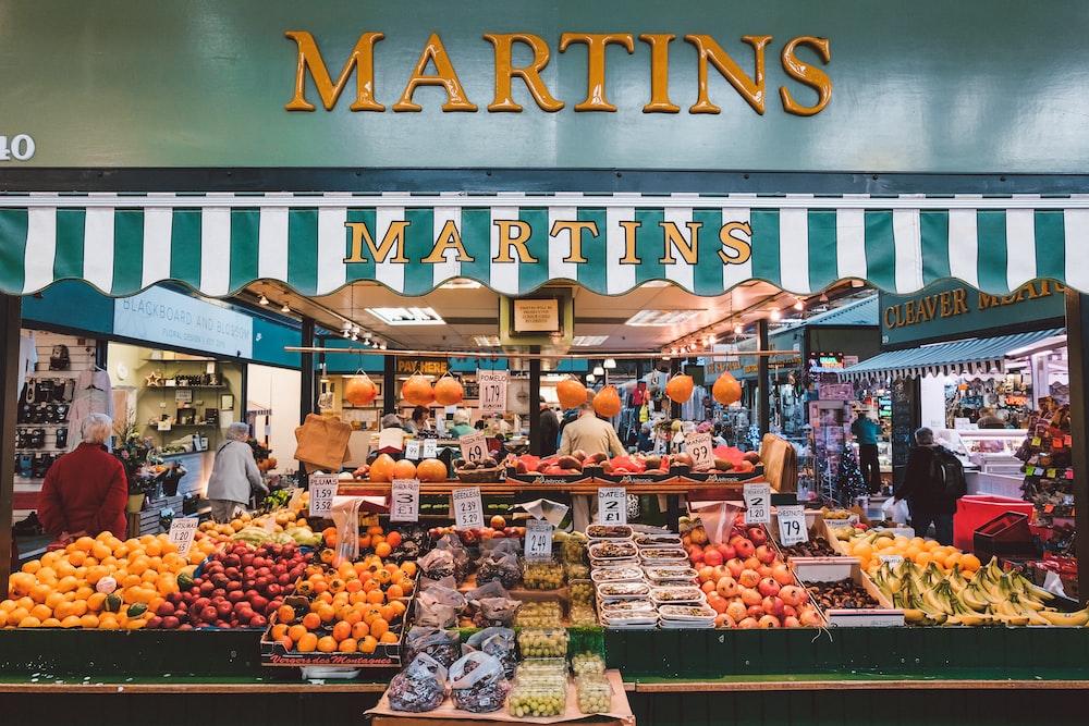 Martins store signage