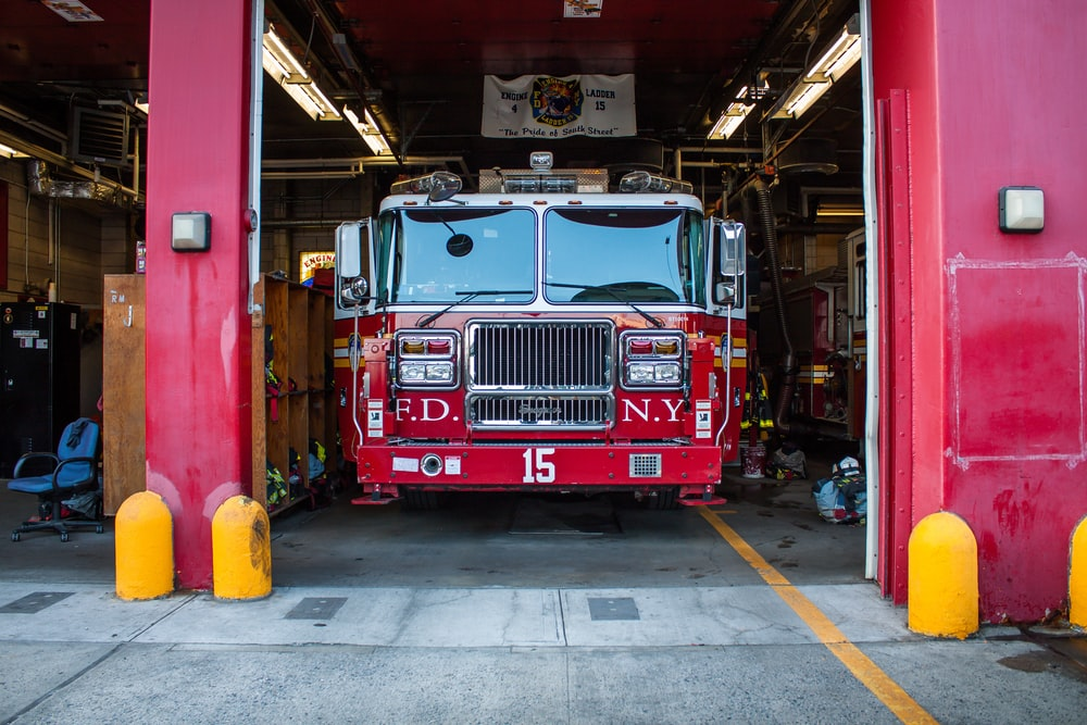 firetruck at Fire Department of New York during daytime