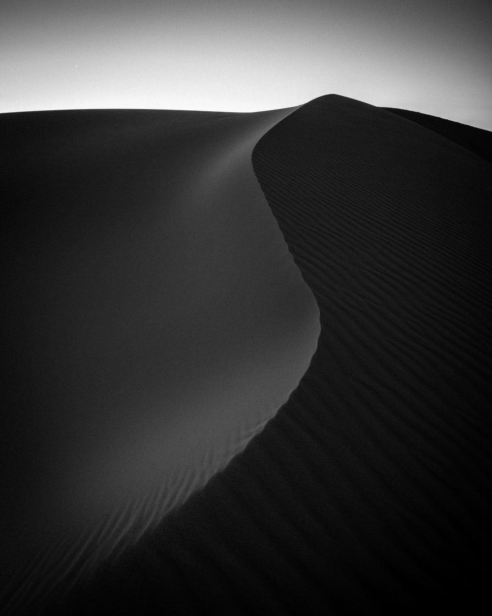 grayscale aerial photography of desert