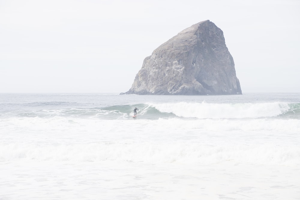 surfer on water during daytime