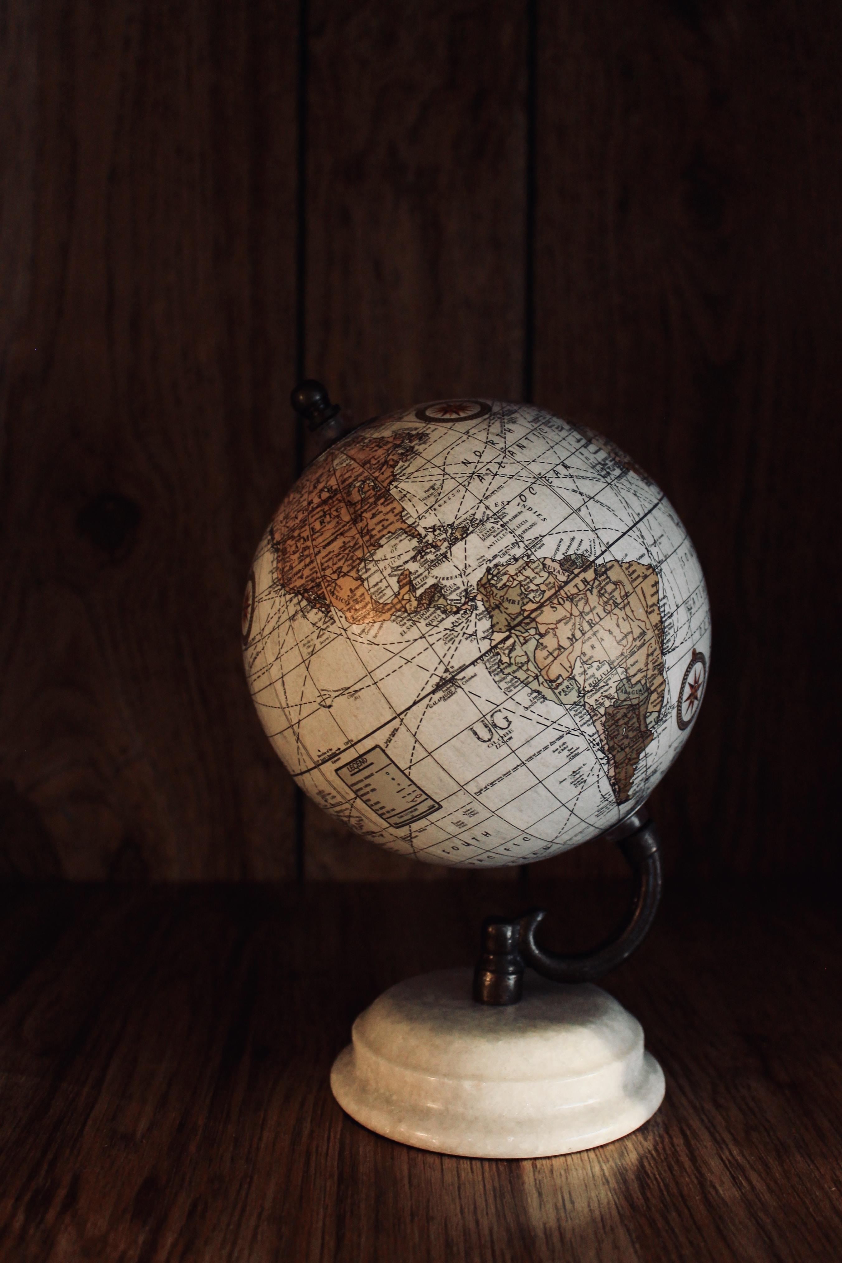white globe model