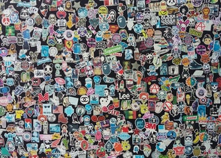 assorted-color sticker collection