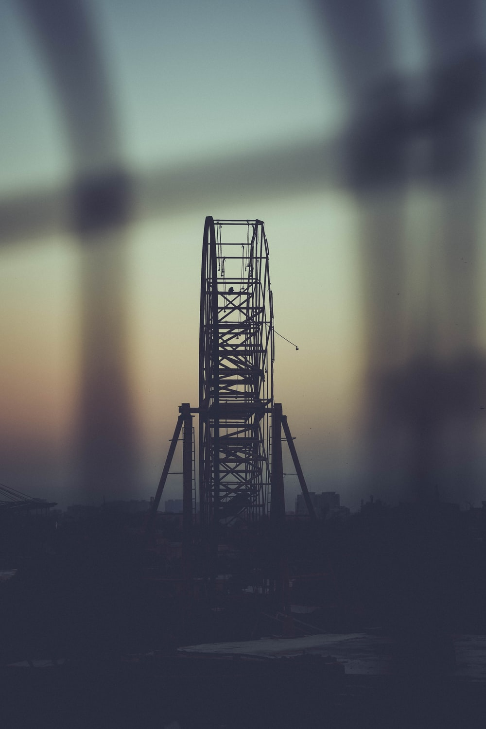 selective focus photography of Ferris Wheel during golden hour