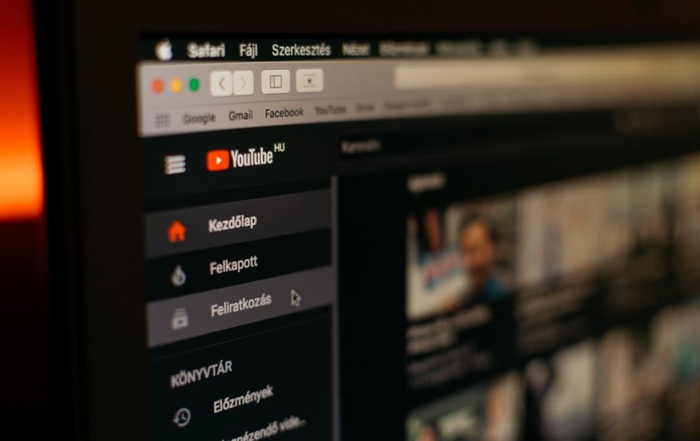 Youtube website screengrab