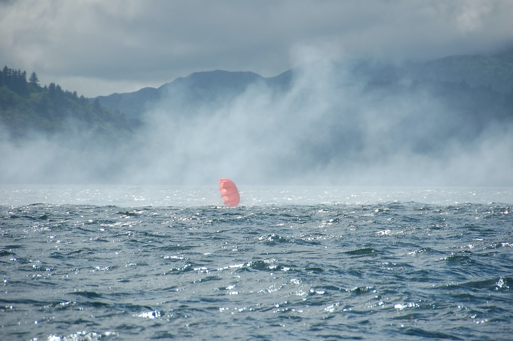 balloon sailing on body of water