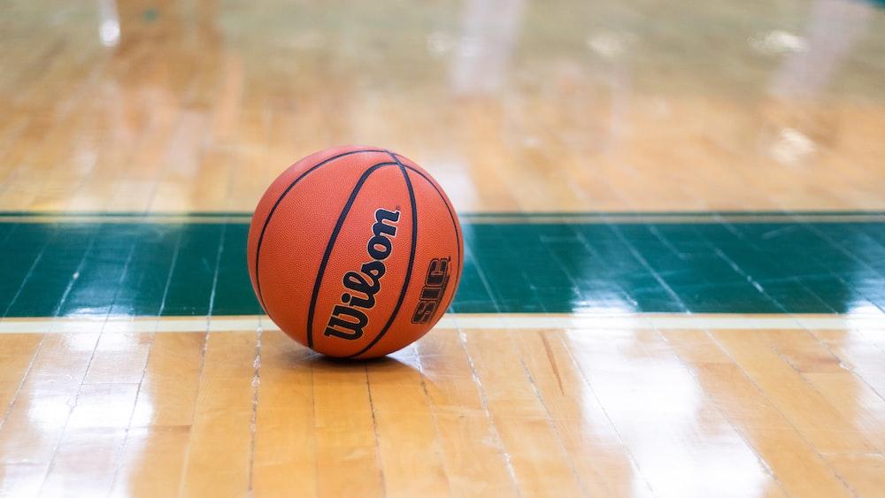 Wilson basketball on floor