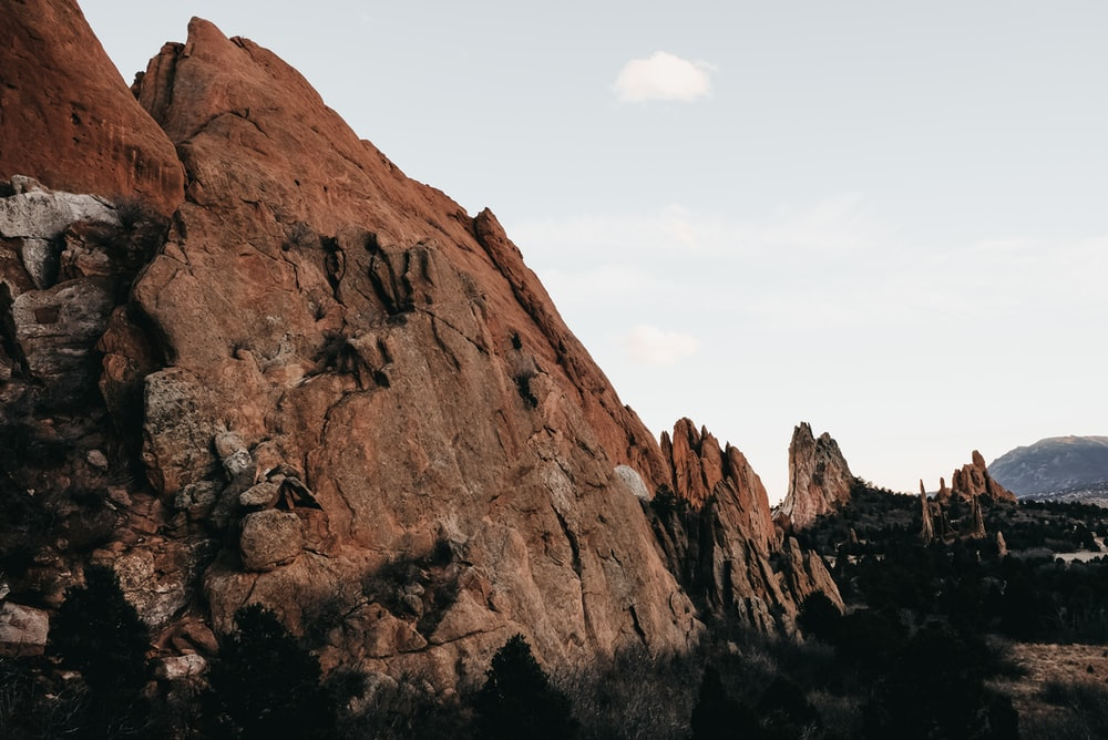 landsacpe photography of rock mountain