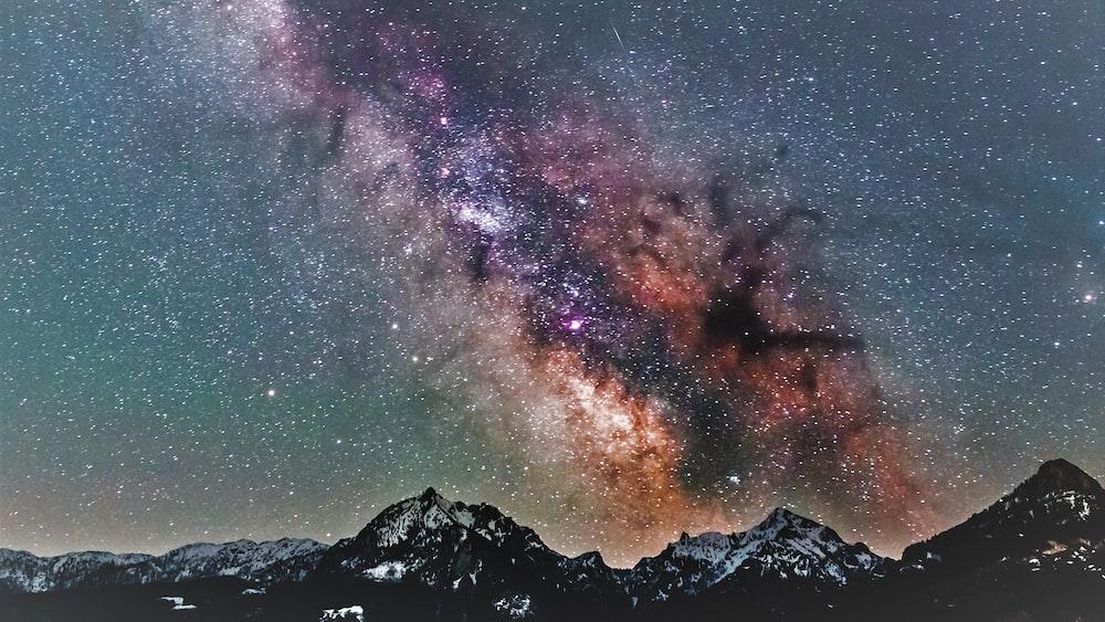 mountain during nighttime