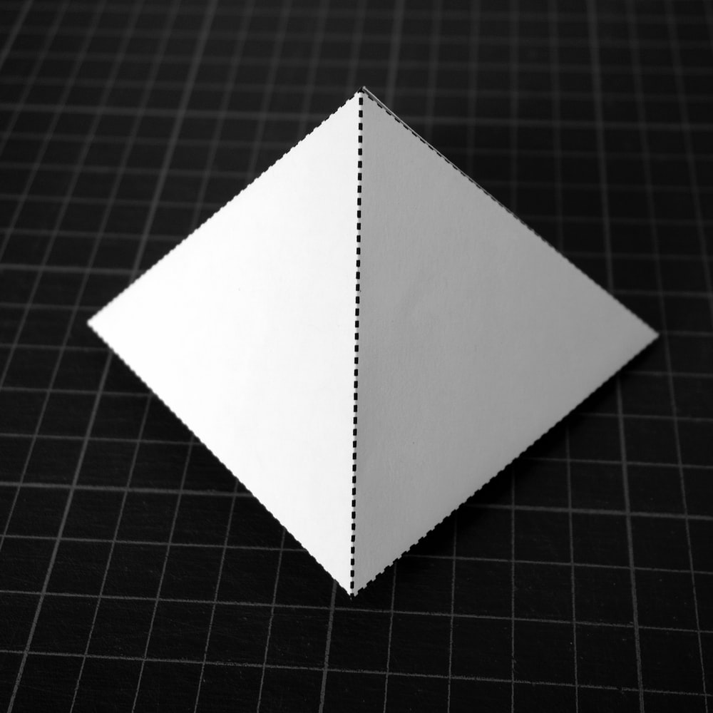 white 4-sided pyramid 3D model