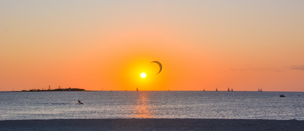 orange sun during golden hour
