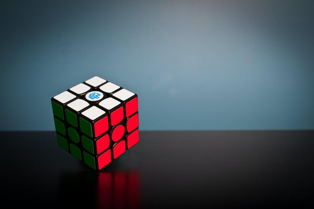 Solved rubik's cube / gan cube.