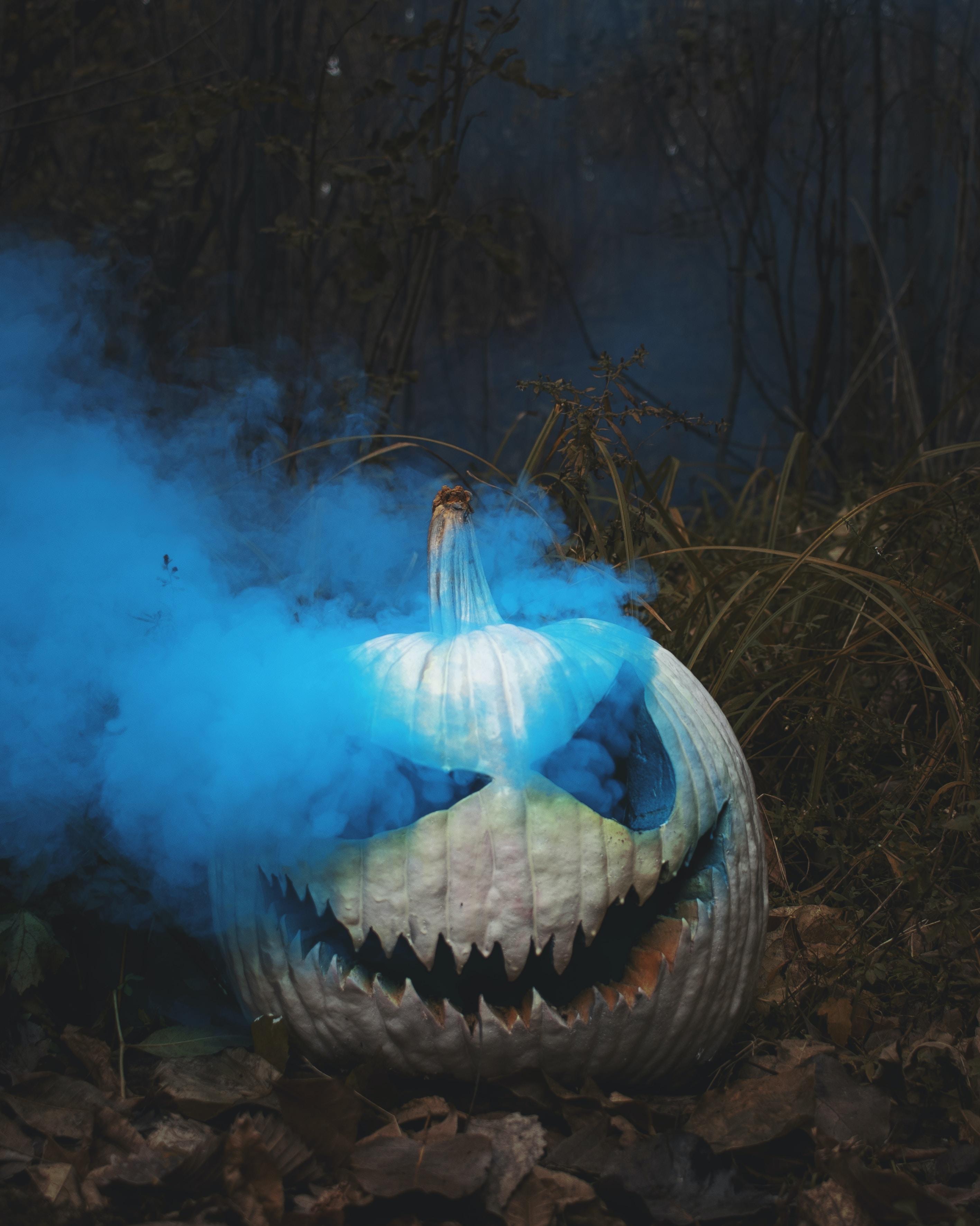 white Jack o Lantern