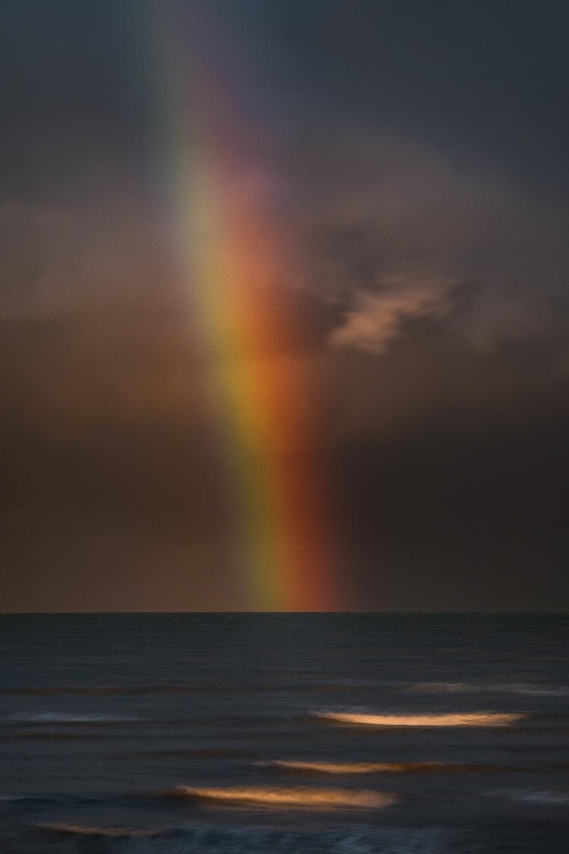 rainbow on the sky above the sea