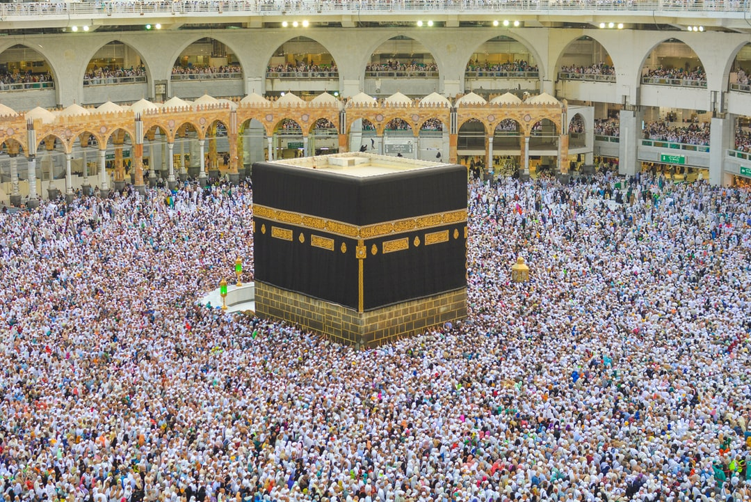 The Kaaba locate inside the Masjidil Haram in Mecca. It is a requirement for Muslim performing the pilgrimage (Hajj or Umrah) to visit and perform the 'tawaf' around it.  The 5 daily prayers are also performed in the area. This photo was taken during the hajj season of 2018. It was amazing to see the diversity of people and culture. What was also impressive is the logistical planning by the local authorities to accomodate the few million pilgrims during the Hajj period.