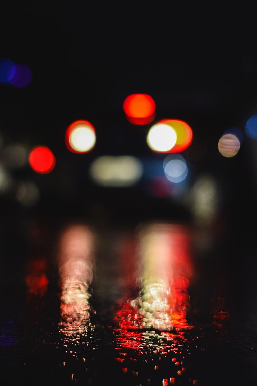 bokeh photography of road