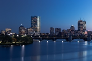 landscape photography of city during nightime