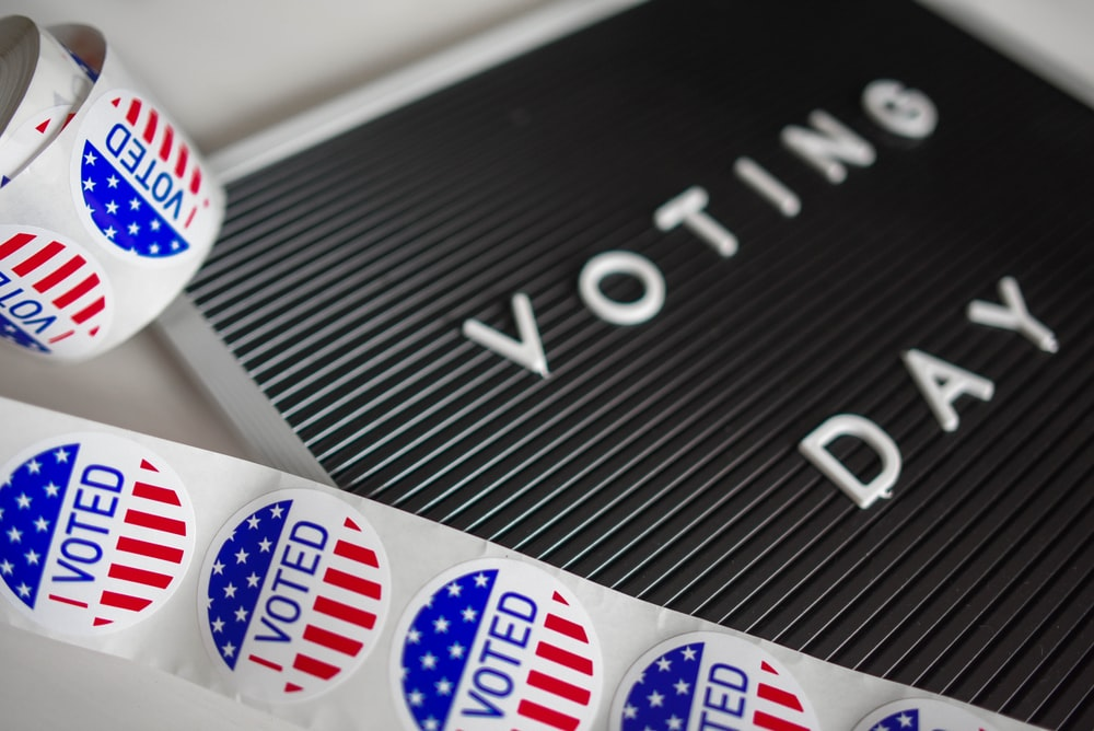 voting day letter board