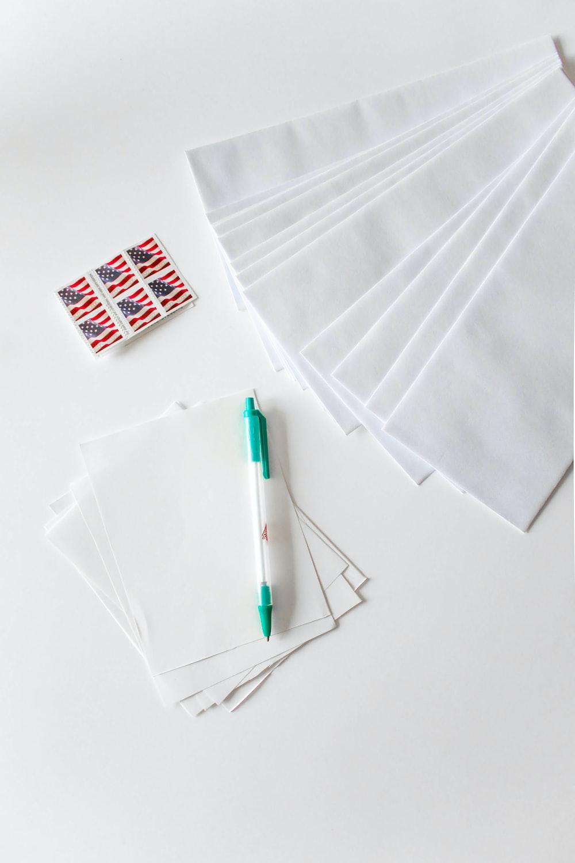 green click pen on white paper
