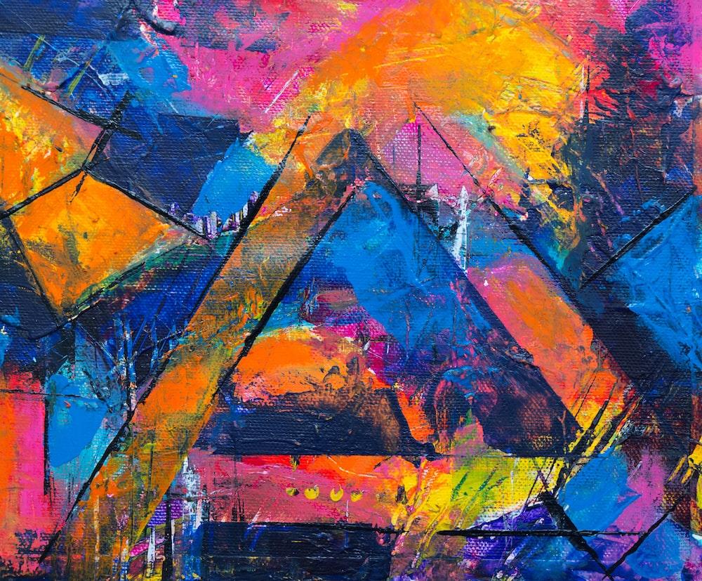 multicolored graffiti filled wall