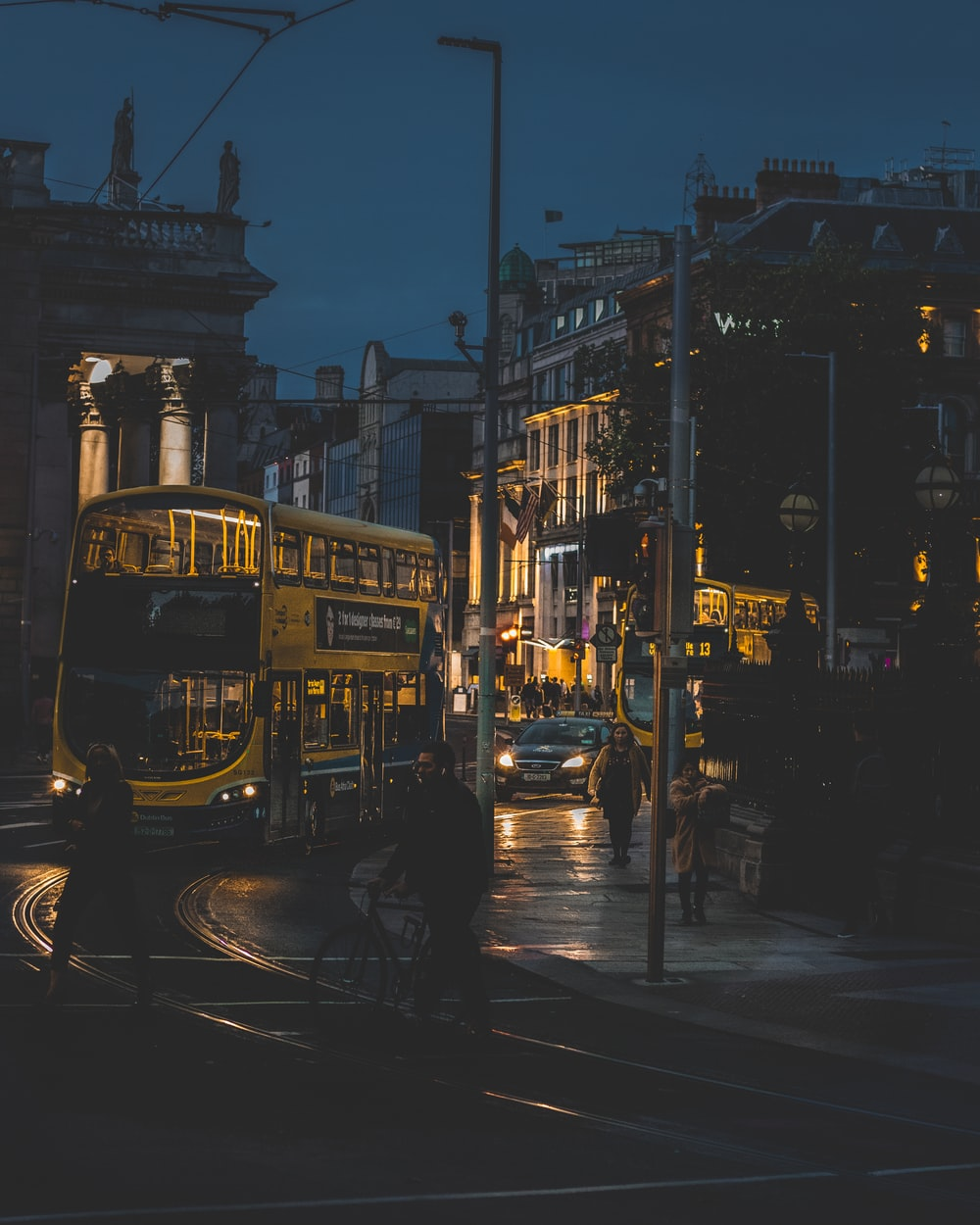architectural photography of city tram