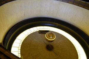 dome ceiling with turned on lights