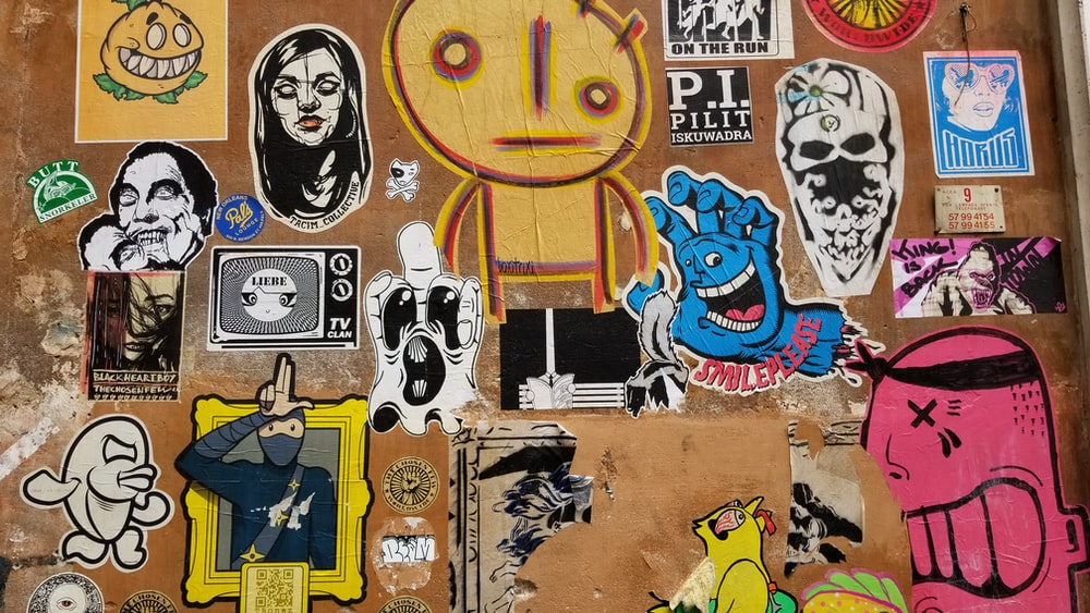 assorted-print decal lot
