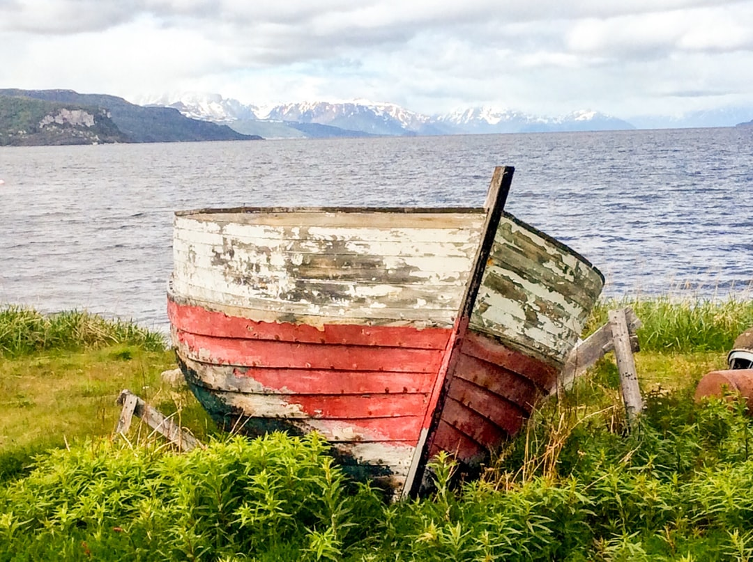 Attending the World Heritage Rock Art Centre in Alta Norway I came across this interesting old boat on the shoreline with a captivating view across the fjord. Of course, viewing the 7000 year old rock art discovered in 1973 was also very worthwhile