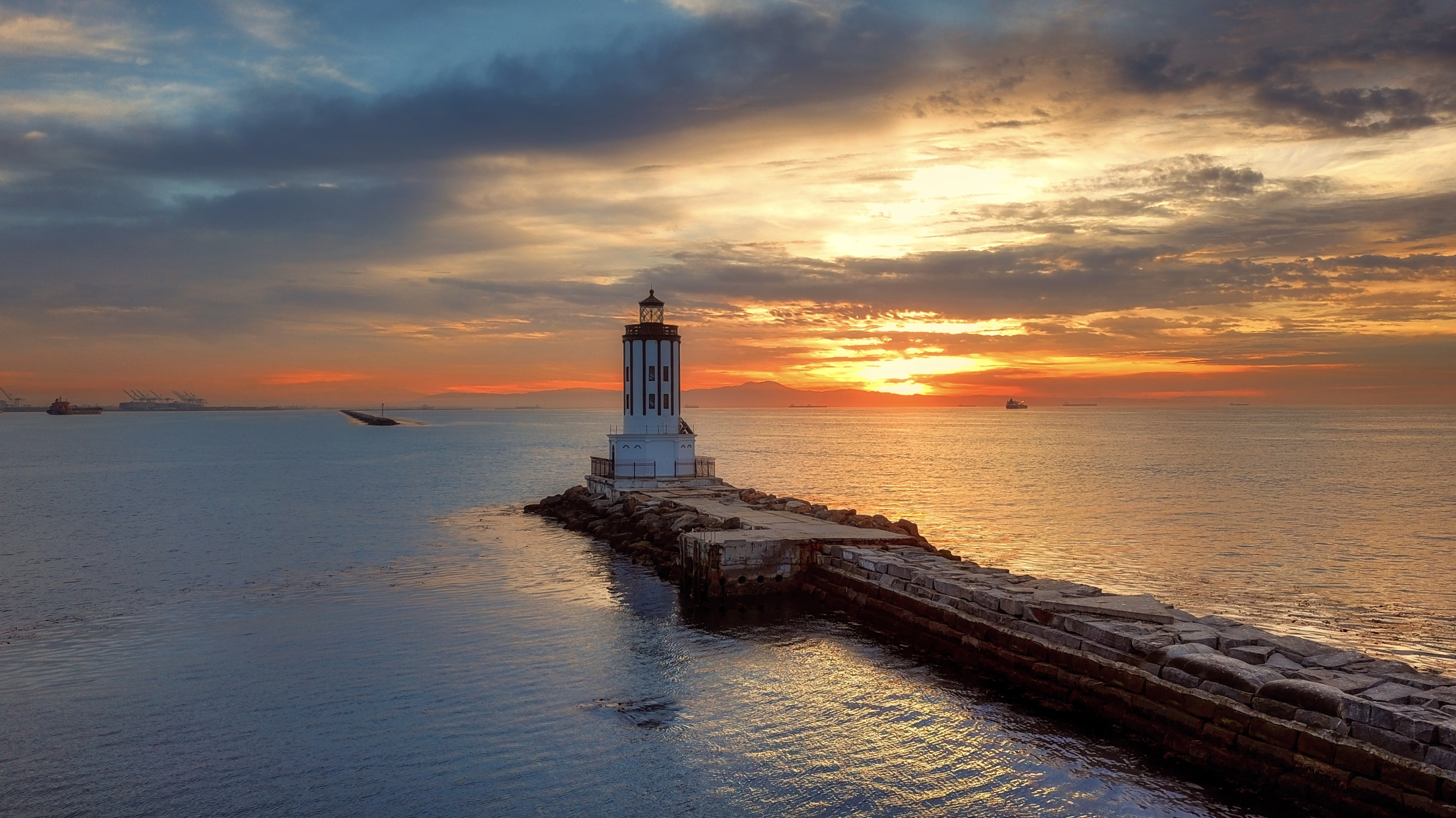 lighthouse during night