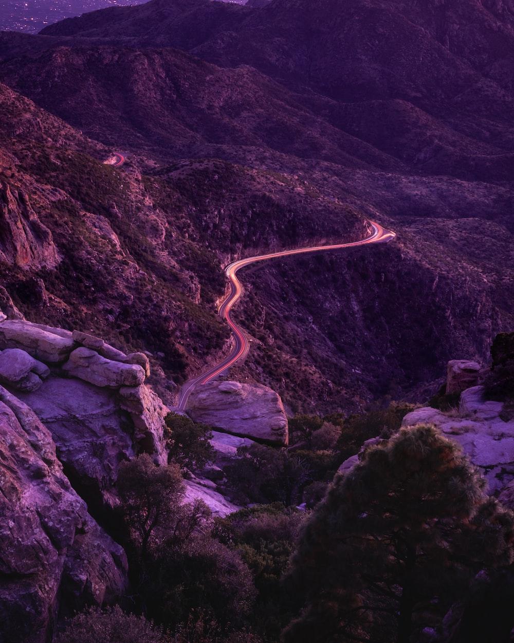 road on mountain ridge
