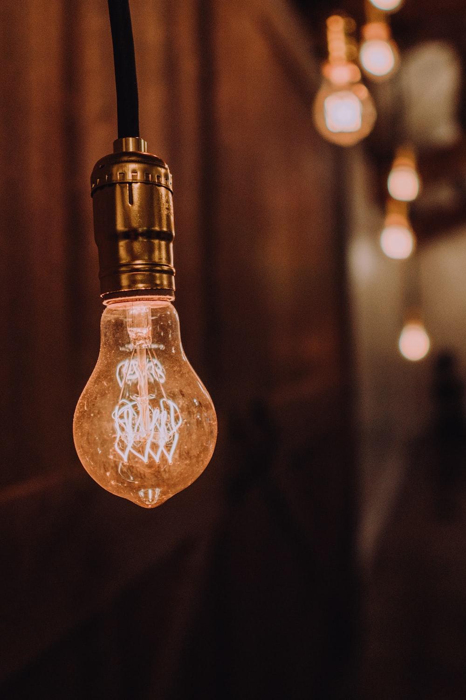orange light bulb